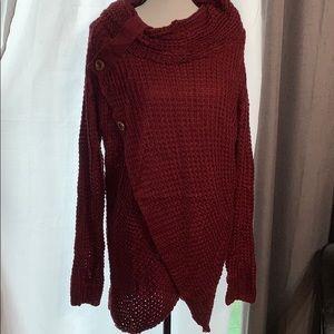 Burgundy Shirley Leo Rosi Sweater